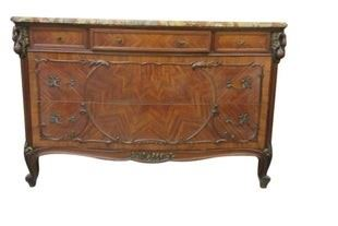French marble top dresser