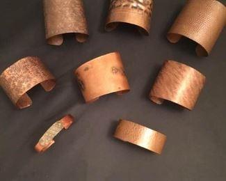 Artist Copper Cuff Bracelets