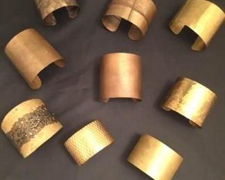Brass and Bronze Cuff Bracelets