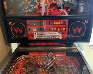 Williams Big Guns Pinball Machine 55780x29x55inHxWxD