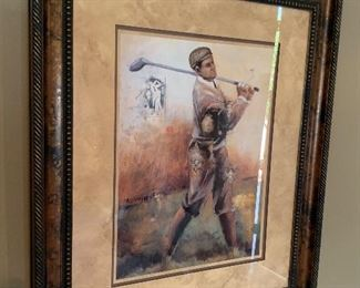 Golfer Decor Painting39x34in