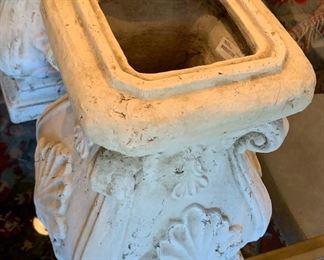Lg  Lidded Vase #1 Concrete