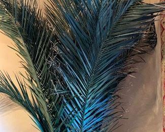 Huge Faux Palm w/ Stone Vase Planter31in H x 23in Diameter