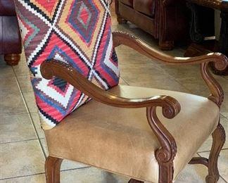 Sam Moore Navajo Blanket Chair #1 Leather Nailhead46x28x29inHxWxD Sam Moore Navajo Blanket Chair #2 Leather Nailhead46x28x29inHxWxD