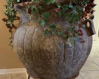 Huge Faux Plant w/ Vase