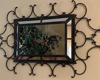 Wrought Iron Mirror40in x 67in