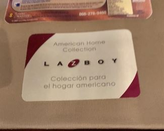 La-Z-Boy Leather Nailhead Loveseat/Sofa