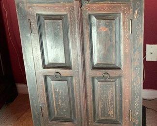 Handpainted Cabinet35.5x26x13inHxWxD