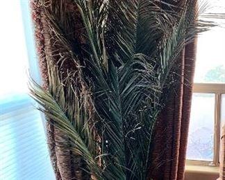 Huge Faux Palm w/ Stone Vase Planter24in H x 23in diameter
