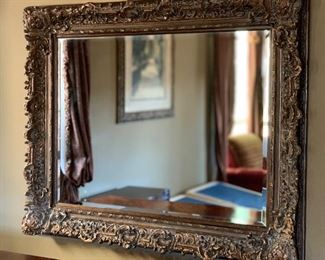 Highly Carved Frame Mirror50x61x4inHxWxD