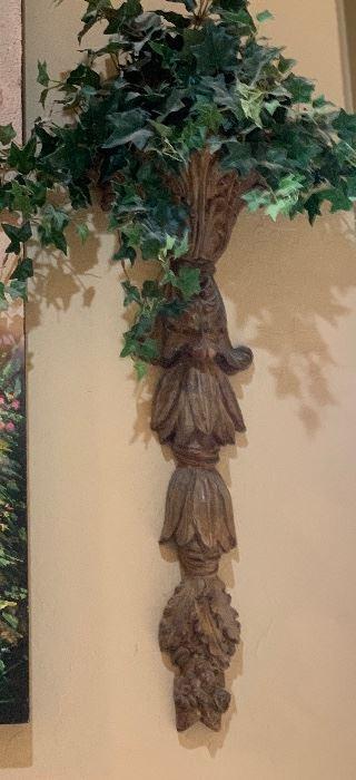 2 Wall mount Flower decor