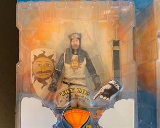 Monty Python Holy Grail  King Arthur action figure Monty Python Holy Grail  Sir Bedvere action figure Monty Python Holy Grail  Sir Robin action figure