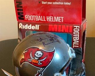 Shawn King Riddell Mini Helmet Tampa Bay Buccaneers