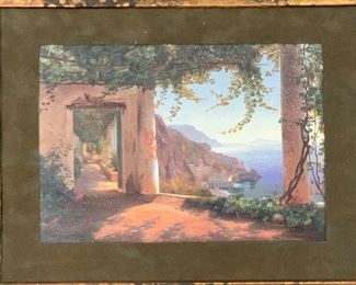 Decor Cliff Side Painting