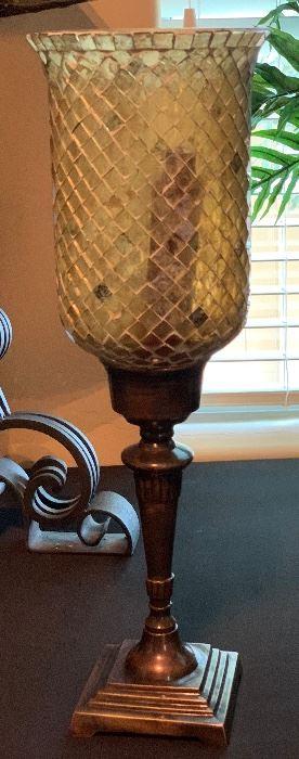 Glass Mosaic Hurricane Candle Holder #2