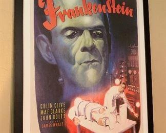 Boris Karloff Frankenstein Poster Framed