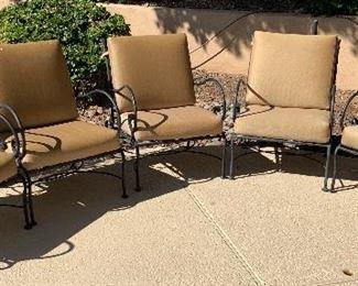 6pc Mallin Patio Chairs35x25x30inHxWxD