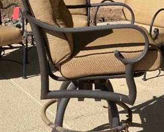 3pc Mallin Patio Counter Height Chairs50x25x28in seat height 28inHxWxD