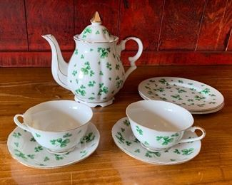 Lefton Shamrock Tea Set