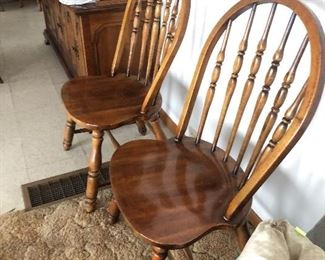 Two Windsor style chairs, Virginia Chair Company