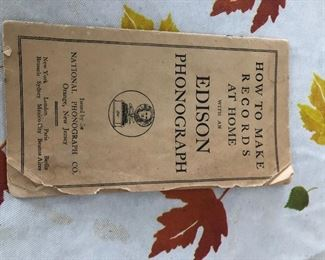 Info for antique Edison phonograph