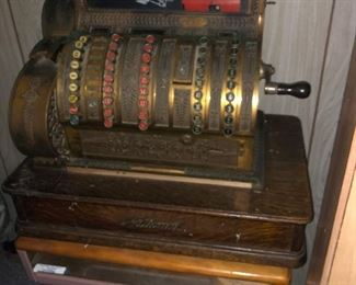 Beautiful brass National cash register.