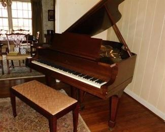 Steinway (M) Mahogany Baby Grand Piano. Made in 1927.  Examined and tuned.  Sounds wonderful.  (Subject to Prior Sale)  Contact ENG&A for a private viewing of piano only.