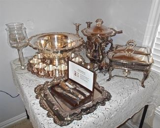 Silverplate Large Punch Bowl
