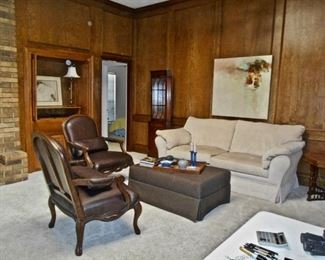 Leather Armchairs, Broyhill Sofa