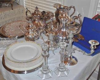 Silverplate Tea Service Set
