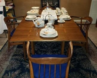 Mid-Century Dining Table with 4 Chairs