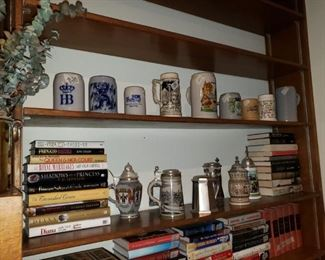 Beer Steins and Books