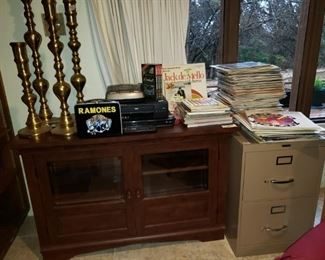 TV Stand Records Brass Items