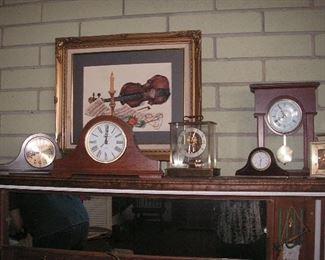several clocks...some vintage