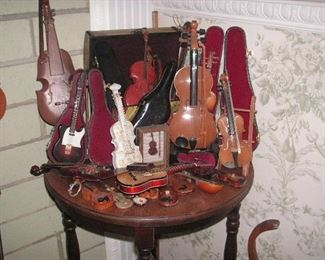 collection of decorative violins