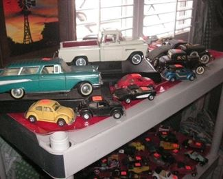 collection of vintage cars