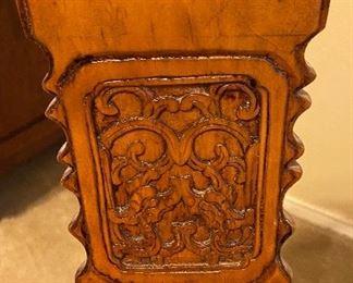 Teakwood Armchairs Hand Carved Design
