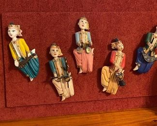 Hand Crafted Figurines Mounted on Plaque