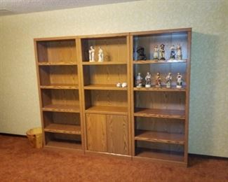 3 separate piece bookshelves