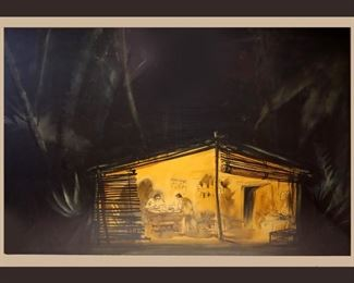 "Original Framed Artwork by Jo Mielziner; Joseph Mielziner was an American theatrical scenic, and lighting designer born in Paris.  Described as ""the most successful set designer of the Golden era of Broadway"""