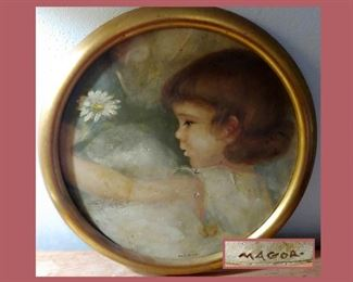 Isabelle Magor Signed Original Oil of a Beautiful Child
