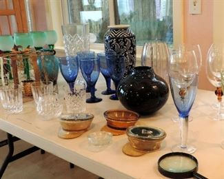 GLASSWARE AND VASES