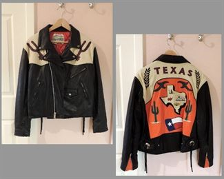 LEATHER JACKET AVIREX TEXAS THEME