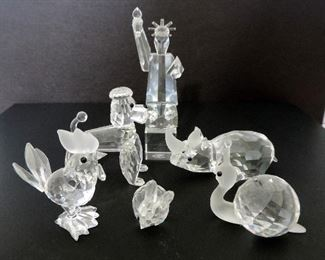 SWAROSKI CRYSTAL FIGURINES