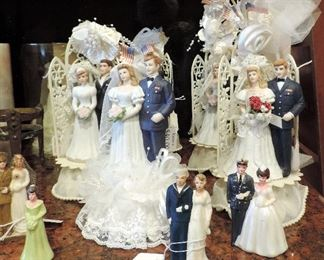 VINTAGE AND WWII WEDDING CAKE TOPPERS