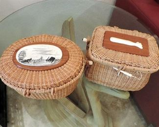 NANTUCKET LIGHTHOUSE BASKET PURSES