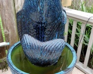 OUTDOOR FISH FOUNTAIN