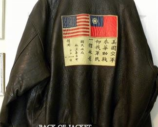 LEATHER BOMBER JACKET WITH WWII NOSE ART