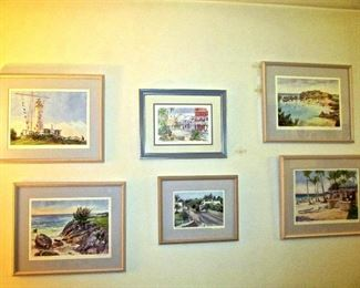 COLLECTION OF DIANA AMOS  OFFSET LITHOGRAPHS WITH PROVENANCE AND SIGNATURE