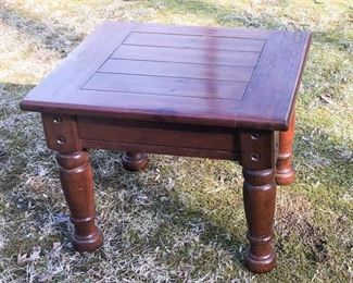 3. End Table with Turned Legs